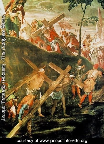 Jacopo Tintoretto (Robusti) - The Ascent to Calvary