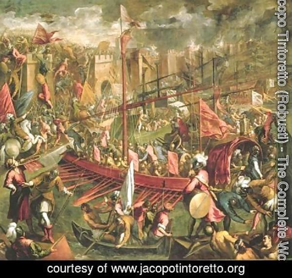 Jacopo Tintoretto (Robusti) - The Capture of Constantinople