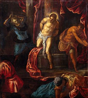 Jacopo Tintoretto (Robusti) - The Flagellation of Christ
