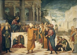 Jacopo Tintoretto (Robusti) - Christ and the Adulteress