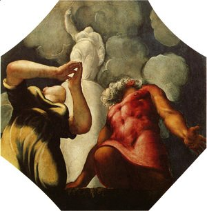Jacopo Tintoretto (Robusti) - Deucalion and Pyrrha Praying before the Statue of the Goddess Themis