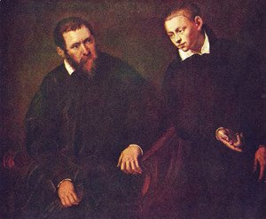 Jacopo Tintoretto (Robusti) - Double portrait of two men