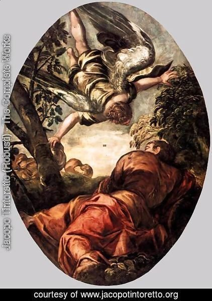 Jacopo Tintoretto (Robusti) - Elijah Fed by the Angel