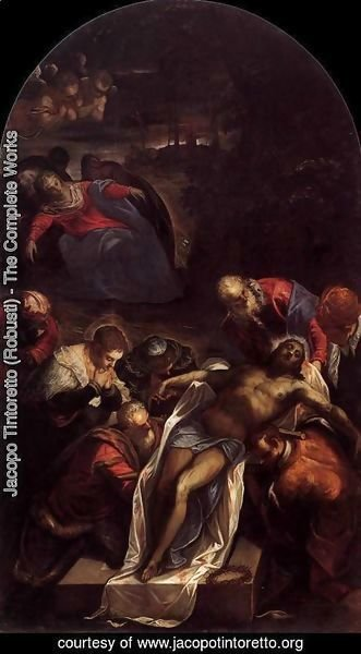 Jacopo Tintoretto (Robusti) - Entombment