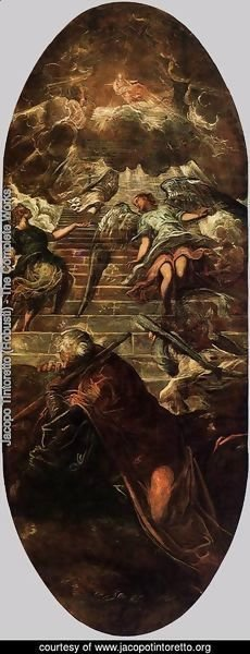 Jacopo Tintoretto (Robusti) - Jacob's Ladder