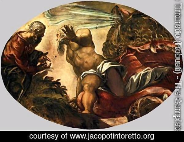 Jacopo Tintoretto (Robusti) - Jonah Leaves the Whale's Belly