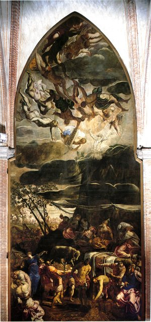 Jacopo Tintoretto (Robusti) - Moses Receiving the Tables of the Law