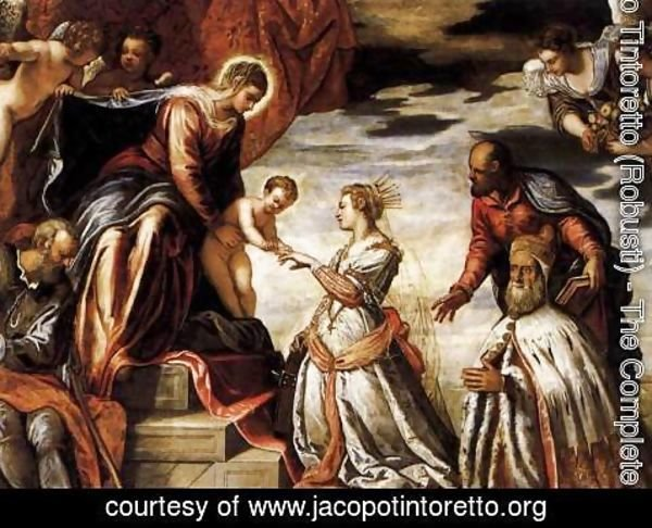 Jacopo Tintoretto (Robusti) - Mystic Marriage of St Catherine