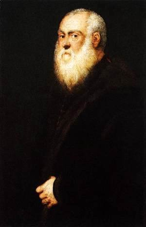 Jacopo Tintoretto (Robusti) - Portrait of a White-Bearded Man