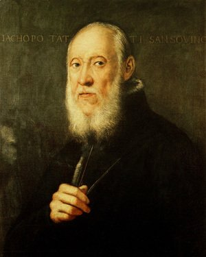 Jacopo Tintoretto (Robusti) - Portrait of Jacopo Sansovino