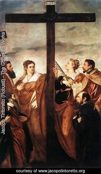 Jacopo Tintoretto (Robusti) - Sts Helen and Barbara Adoring the Cross