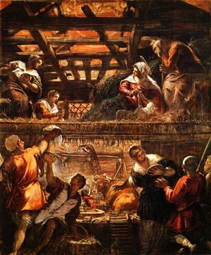 Jacopo Tintoretto (Robusti) - The Adoration of the Shepherds