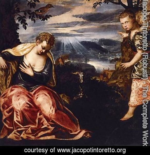 Jacopo Tintoretto (Robusti) - The Annunciation to Manoah's Wife