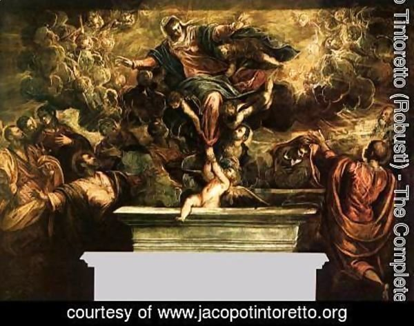 Jacopo Tintoretto (Robusti) - The Assumption of the Virgin