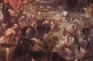 Jacopo Tintoretto (Robusti) - The Battle of Taro