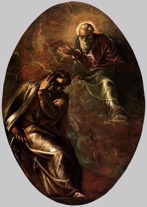 Jacopo Tintoretto (Robusti) - The Eternal Father Appears to Moses