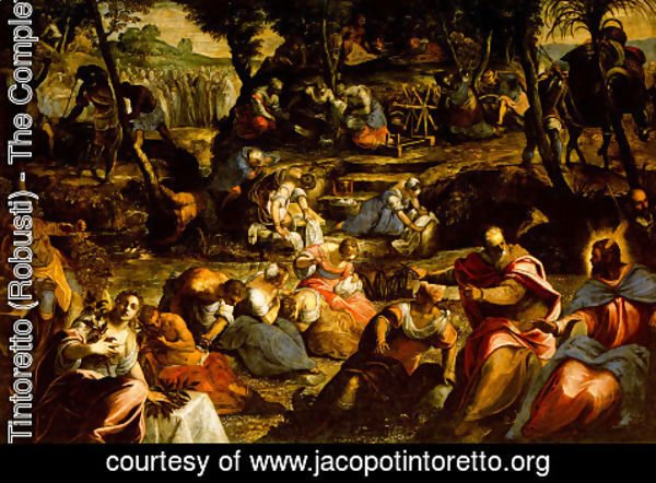 Jacopo Tintoretto (Robusti) - The Jews in the Desert