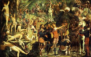 Jacopo Tintoretto (Robusti) - The Martyrdom of the Ten Thousand (fragment)
