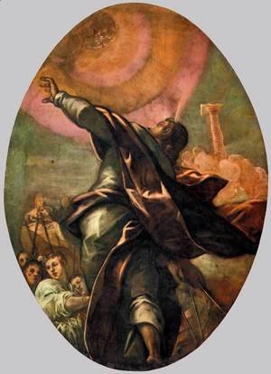 Jacopo Tintoretto (Robusti) - The Pillar of Fire