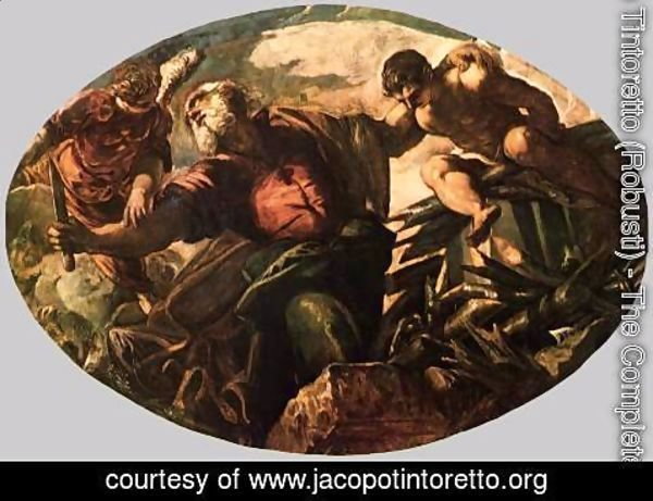 Jacopo Tintoretto (Robusti) - The Sacrifice of Isaac
