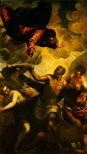 Jacopo Tintoretto (Robusti) - The Temptation of St Anthony