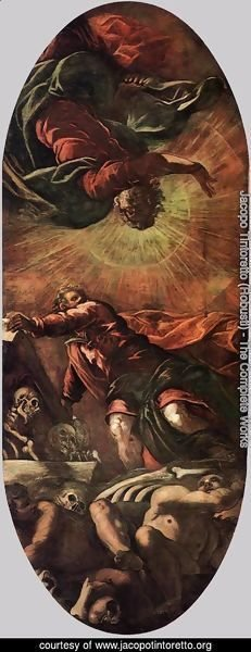 Jacopo Tintoretto (Robusti) - The Vision of Ezekiel