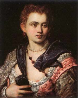 Jacopo Tintoretto (Robusti) - Veronica Franco
