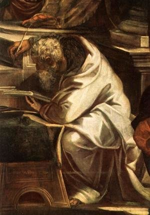 Jacopo Tintoretto (Robusti) - Christ before Pilate [detail 1]