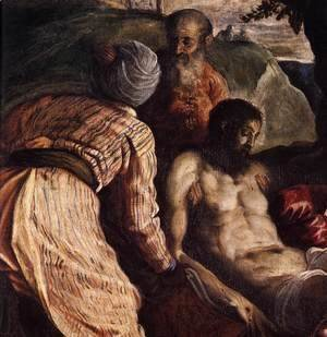 Jacopo Tintoretto (Robusti) - Christ Carried to the Tomb (detail)