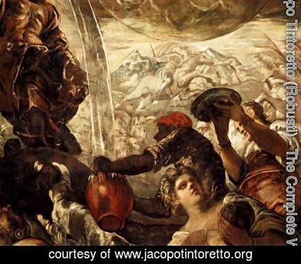 Jacopo Tintoretto (Robusti) - Moses Drawing Water from the Rock (detail 1)