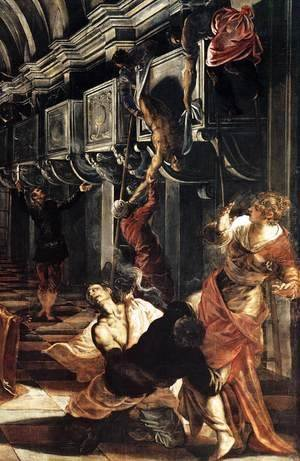 Jacopo Tintoretto (Robusti) - St Mark Working Many Miracles (detail)