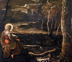 Jacopo Tintoretto (Robusti) - St Mary of Egypt (detail)