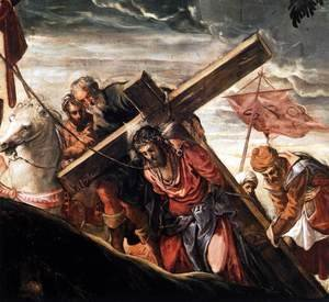 Jacopo Tintoretto (Robusti) - The Ascent to Calvary (detail)