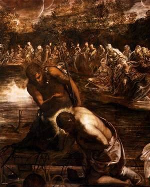 Jacopo Tintoretto (Robusti) - The Baptism of Christ (detail 2)