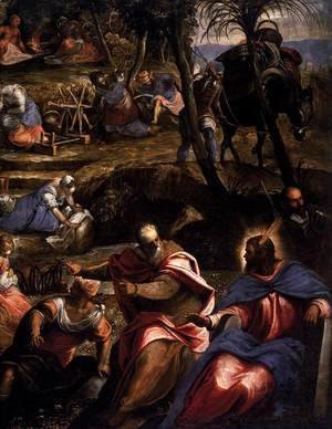 Jacopo Tintoretto (Robusti) - The Jews in the Desert (detail 2)