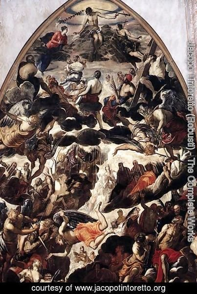 Jacopo Tintoretto (Robusti) - The Last Judgment (detail 1)