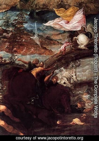 Jacopo Tintoretto (Robusti) - The Conversion of Saul (detail)