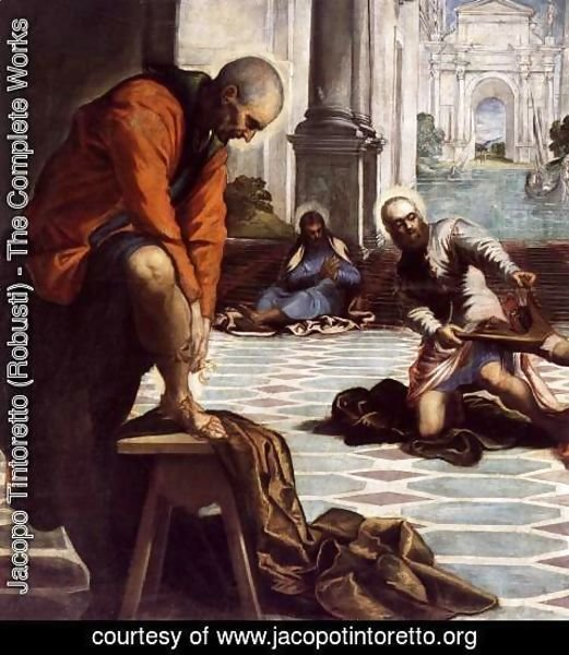 Jacopo Tintoretto (Robusti) - Christ Washing the Feet of His Disciples (detail)