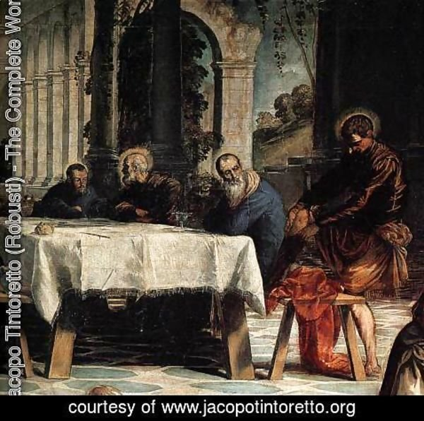 Jacopo Tintoretto (Robusti) - Christ Washing the Feet of His Disciples (detail) 2
