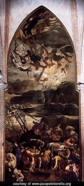 Jacopo Tintoretto (Robusti) - Moses Receiving the Tables of the Law 2