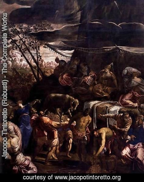 Jacopo Tintoretto (Robusti) - Moses Receiving the Tables of the Law (detail) 2