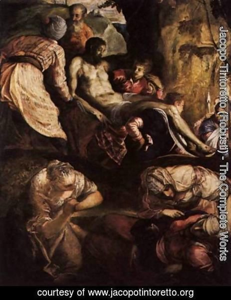 Jacopo Tintoretto (Robusti) - Christ Carried to the Tomb