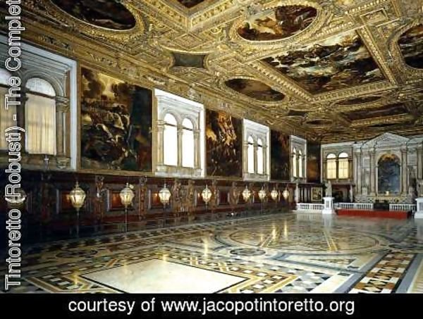 Jacopo Tintoretto (Robusti) - View of the Sala Superiore 2
