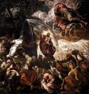Jacopo Tintoretto (Robusti) - Moses Drawing Water from the Rock