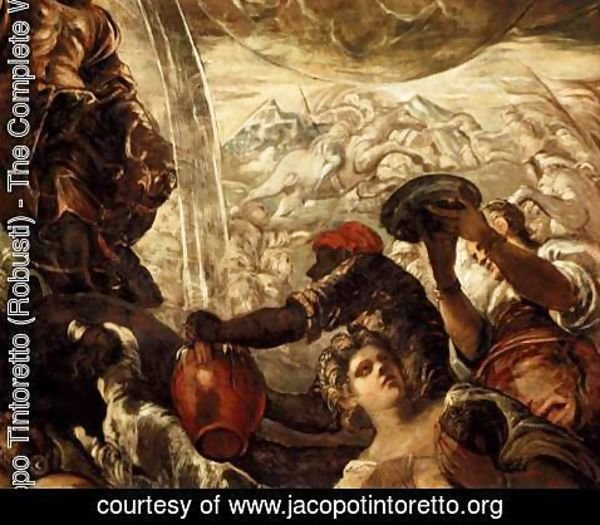 Jacopo Tintoretto (Robusti) - Moses Drawing Water from the Rock (detail)