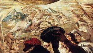 Jacopo Tintoretto (Robusti) - Moses Drawing Water from the Rock (detail) 2