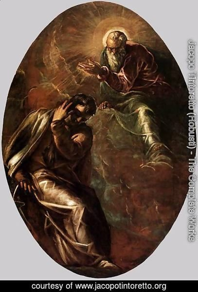 Jacopo Tintoretto (Robusti) - The Eternal Father Appears to Moses 2