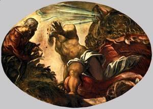 Jacopo Tintoretto (Robusti) - Jonah Leaves the Whale's Belly 2