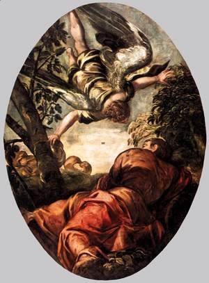 Jacopo Tintoretto (Robusti) - Elijah Fed by the Angel 2
