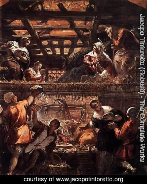 Jacopo Tintoretto (Robusti) - The Adoration of the Shepherds 2